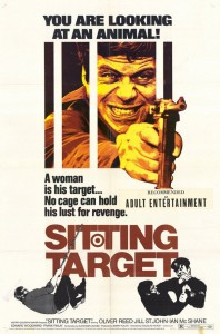 "Poster for the movie ""Sitting Target"""