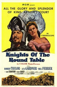 "Poster for the movie ""Knights of the Round Table"""