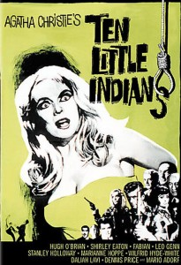 "Poster for the movie ""Ten Little Indians"""