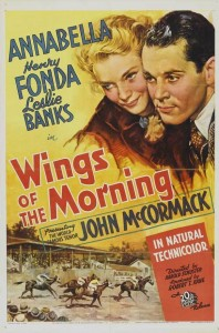 "Poster for the movie ""Wings of the Morning"""