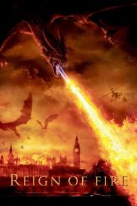 "Poster for the movie ""Reign of Fire"""