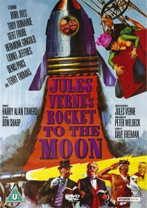 "Poster for the movie ""Jules Verne's Rocket to the Moon"""