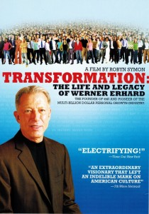 "Poster for the movie ""Transformation: The Life and Legacy of Werner Erhard"""