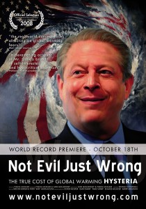 "Poster for the movie ""Not Evil Just Wrong"""