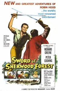 "Poster for the movie ""Sword of Sherwood Forest"""