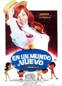 """Poster for the movie """"En un mundo nuevo"""""""